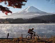 Eco Tours Japan Cycling and Mountaing Bikng Tours in Yamanashi, the Minami Alps, and Mt. Fuji World Heritage 5 lakes Area.