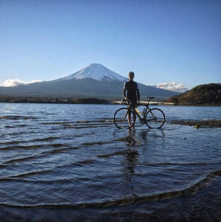 Eco Tours Japan Cycling and MTB tours in Yamanashi Japan and Mt Fuji 5 lakes world heritage area.